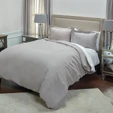 rizzy home silver solid pattern queen linen duvet bedding