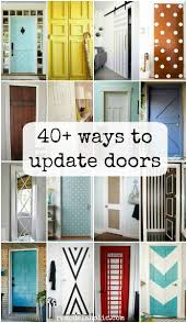 Don't let boring doors get you down -- these simple ways to update flat  doors will give your basic interior and bifold doors some style on a budget.