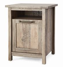 better homes gardens modern farmhouse nightstand with usb rustic gray finish com