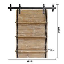 wall bookshelves shelf idyllic retro style solid wood barn door shape parion doing the old shelf