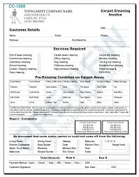 Carpet Cleaning Business Forms Cleaning Invoice Examples Cleaning