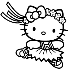 Small Picture ballerina coloring pages HELLO KITTY BALLERINA COLORING PAGE