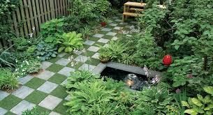 how to lay a checkerboard patio garden
