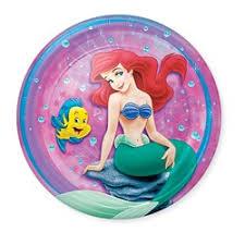 Little Mermaid Dessert Plates (8) Party Supplies and Ideas : Kids