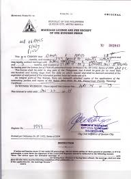 Marriage License Application In Quezon City Life Faith Love