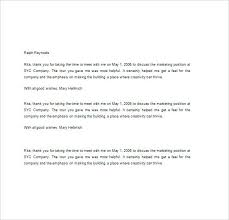 Business Thank You Letters Efficient After Interview All Then Letter ...