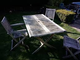details about wooden garden table and chairs used