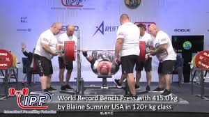 Bench Press Weight Chart Kg World Record Bench Press With 415 0 Kg By Blaine Sumner Usa In 120 Kg Class