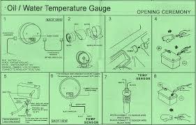 auto gauge wiring diagram oil temp auto wiring diagrams autogauge 60mm super