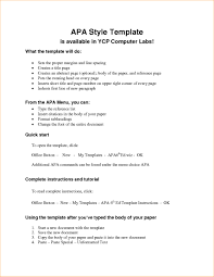 003 Apa Format Research Papers Paper Outline Template