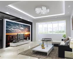 Custom Foto Behang 3d Stereoscopische New York City Views Art Tv