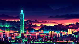 Vaporwave City Night Wallpaper, HD ...