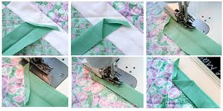 Binding Basics - Part 4: Attaching the Binding by Machine ... & Refold the binding and start sewing again 1/2