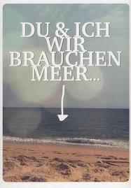 Postkarte Spruch Liebe Du Und Ich Wir Brauchen Meer