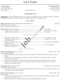 Resume Examples For Job 83 Images Sample Resume With