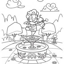Cupid Free Valentine Coloring Page | Valentine Coloring pages of ...