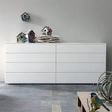 white chest of drawers. Bond 8 Drawer Chest. L180xH67cm. (BD67F) White Chest Of Drawers