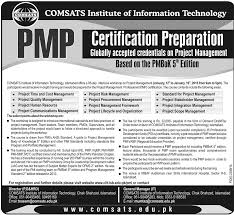 pmp certification preparation in comsats institute of information  pmp certification preparation in comsats institute of information technology