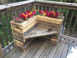 rustic pallet furniture. DIY Rustic Pallet Corner Planter Bench Furniture
