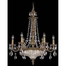 schonbek milano floine bronze nine light clear spectra crystal chandelier 23w x 27h x 23d