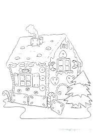 House Coloring Pages To Print Coloring House Color Page Gingerbread