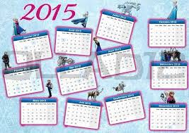 Glitter 2015 New Year Themed Light Blue Monthly Printable Frozen ...
