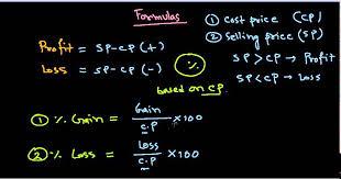 Profit Loss Formula Quantitative Aptitude Profit And Loss Formulas Trick For Ibps Ssc Cat Xmat Rail Po Gate Exams