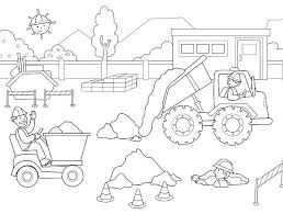 free printable construction equipment coloring pages truck elegant g great