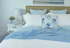 double luxury organic cotton waffle quilt cover set sky blue