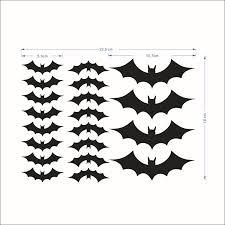 20Pcs <b>Halloween Bat Pattern</b> Wall Stickers for Living Room ...