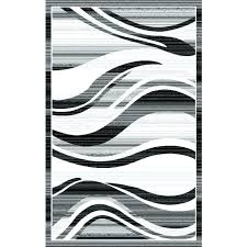 black and white zigzag rug area rugs modern waves silver grey wave stripes chevron project 62tm