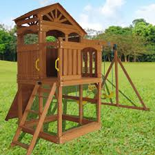 outdoor play sets swing slide wooden playset sandbox ad