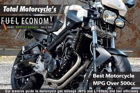 Best Motorcycle Mpg Over 500cc Guide In Mpg And L 100km
