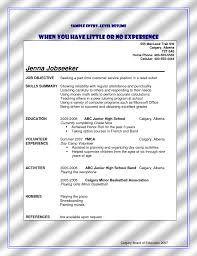 Gallery Of Resumes For Jobs With No Experience