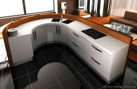 modern curved kitchen island. A Contemporary White Kitchen With Curved Cabinets (3D) Modern Island