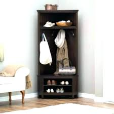 Storage Coat Rack With Baskets Impressive Decoration Corner Coat Rack With Bench Entryway Storage Hall Tree