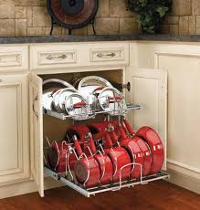 Kitchen Cabinet Pull Out Ideas   Base Cabinet Double Tier Pout And Pan Pull  Out