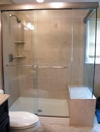 bathroom semi frameless glass shower sliding door design