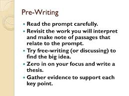 literary analysis and interpretive essay english honors ppt pre writing the prompt carefully