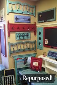 diy repurposed furniture. head and footboards repurposed in to coat racks cabinet doors into chalk boards diy furniture u