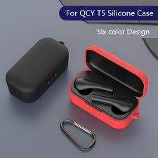 Silicone Case for <b>QCY T5 Wireless</b> Bluetooth Headset Portable ...