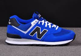 new balance blue. men shoes- new balance ml 574 vbk suede-mesh upper blue -