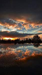 Water-evening-landscape-clouds-iPhone ...