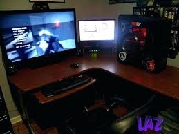 l shaped desk gaming. Contemporary Desk L Gaming Desk Shaped Wonderful Computer  Would Like Some  Fabulous  Throughout L Shaped Desk Gaming B