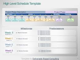 Deliverables Template Project Timeline Template Deliverable Based Consulting