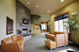 dental office reception. Waiting Area Fireplace Reception Desk Dental Office