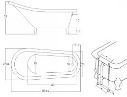 freestanding bathtub dimensions