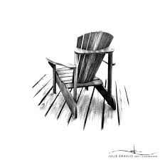 chair drawing. example of gesture drawing moving towards the contour line chair