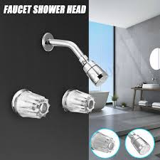 mobile home rainfall shower faucet shower head bath tub spout diverter valve