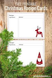 Printable Christmas Recipe Cards Ten Delicious Food Gifts Free Printable Recipe Cards